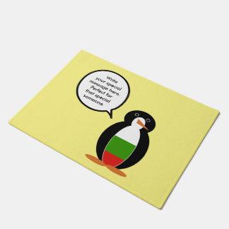 ブルガリアの旗の話すペンギン ドアマット