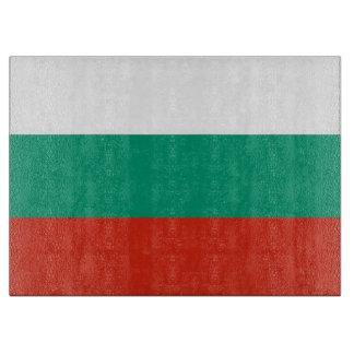 ブルガリアの旗を持つガラスまな板 カッティングボード