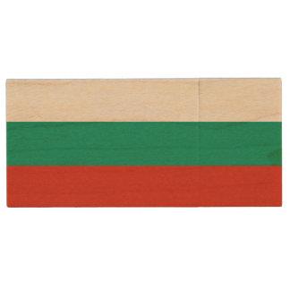 ブルガリアの旗 ウッドUSBフラッシュドライブ