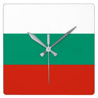 ブルガリアの旗 スクエア壁時計