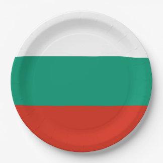 ブルガリアの旗 ペーパープレート