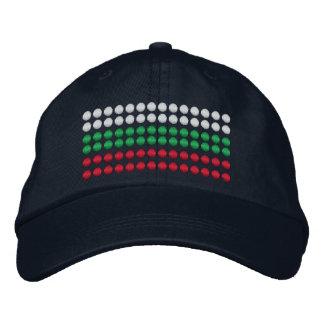 ブルガリアの旗 刺繍入りキャップ