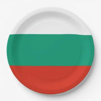 ブルガリアまたはブルガリア語の旗 ペーパープレート