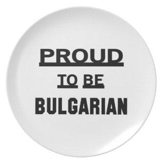 ブルガリア語があること誇りを持った プレート