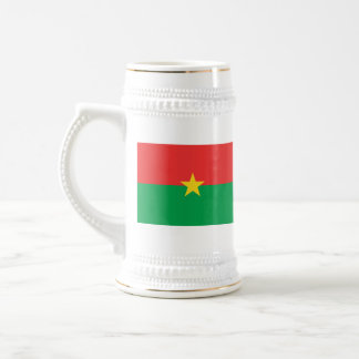 ブルキナファソの旗の~の地図のマグ ビールジョッキ