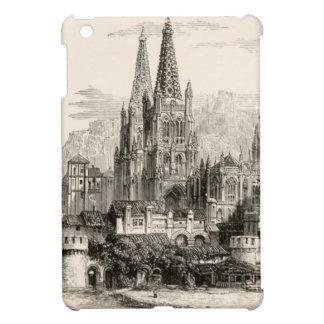 ブルゴスのカテドラルのスペインの城のゴシック様式尖塔のヴィンテージ iPad MINIケース