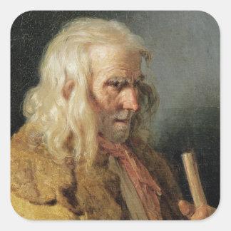ブルターニュの小作人のポートレート、1834年 スクエアシール