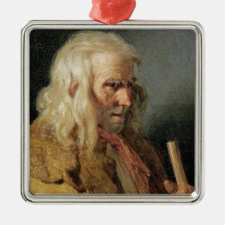 ブルターニュの小作人のポートレート、1834年 メタルオーナメント