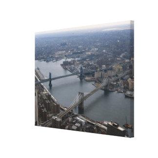 ブルックリンおよびマンハッタン橋写真 キャンバスプリント