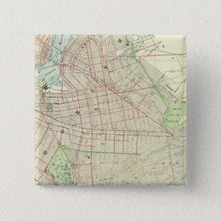 ブルックリンおよび近辺 5.1CM 正方形バッジ