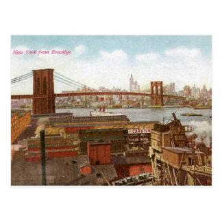 ブルックリンからのニューヨーク ポストカード