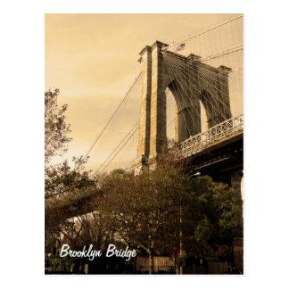 ブルックリンからのブルックリン橋 ポストカード