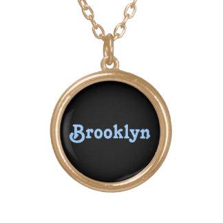 ブルックリンのネックレス ゴールドプレートネックレス