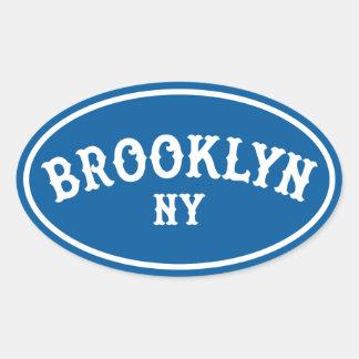 ブルックリンの楕円形のステッカー第1 楕円形シール