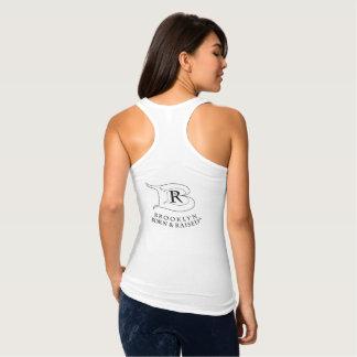 ブルックリンの生まれ、上げられたロゴのレーサーの背部Tシャツ タンクトップ