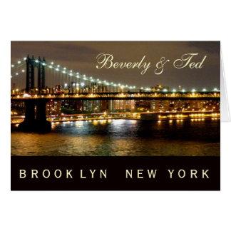 ブルックリンニューヨークの結婚式のデザイン カード