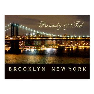 ブルックリンニューヨークの結婚式のデザイン ポストカード