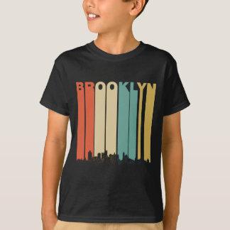 ブルックリンレトロのニューヨークのスカイライン Tシャツ