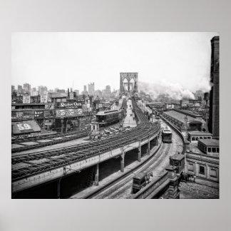 ブルックリン橋およびターミナル- 1903年 ポスター