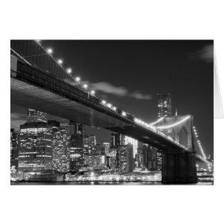 ブルックリン橋およびマンハッタンスカイライン カード