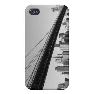 ブルックリン橋およびマンハッタンスカイライン iPhone 4/4Sケース