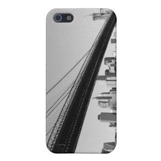 ブルックリン橋およびマンハッタンスカイライン iPhone 5 COVER
