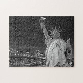 ブルックリン橋そして自由の女神 ジグソーパズル