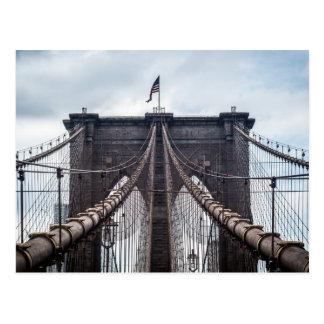 ブルックリン橋に沿う歩行 ポストカード