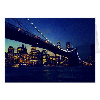 ブルックリン橋のたそがれ カード