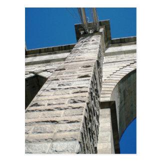 ブルックリン橋のクローズアップ ポストカード