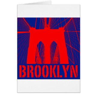 ブルックリン橋のシルエット カード