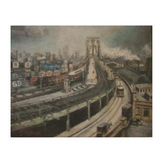 ブルックリン橋のニューヨークシティのファインアートの絵画 ウッドウォールアート