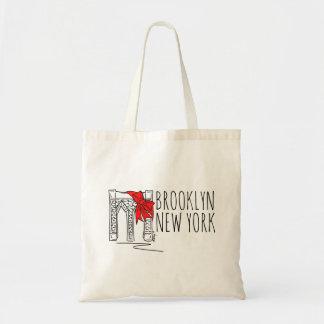 ブルックリン橋のニューヨークシティNYCの赤い休日のトート トートバッグ