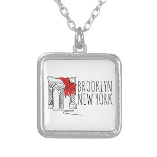 ブルックリン橋のニューヨークNYCのクリスマスのネックレス シルバープレートネックレス