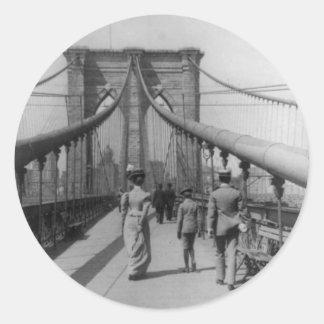 ブルックリン橋の交差 ラウンドシール