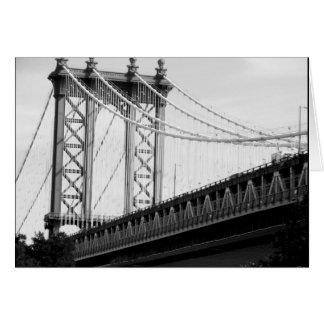 ブルックリン橋の写真カード カード