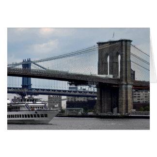 ブルックリン橋の挨拶状ニューヨークシティ カード