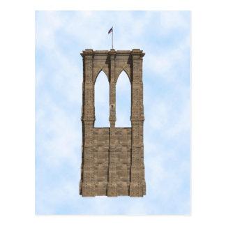 ブルックリン橋の柱: 3Dモデル: 郵便はがき ポストカード