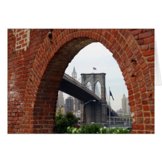 ブルックリン橋の煉瓦アーチカード カード