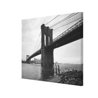 ブルックリン橋の白黒写真 キャンバスプリント