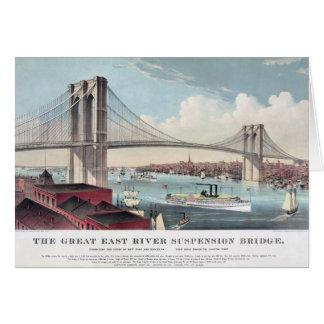 ブルックリン橋の絵画 カード
