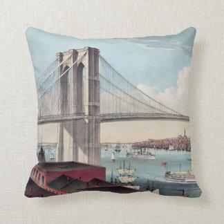 ブルックリン橋の絵画 クッション