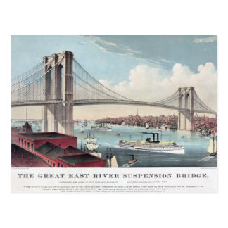 ブルックリン橋の絵画 ポストカード