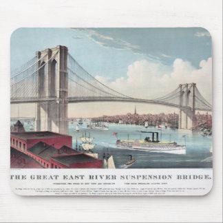 ブルックリン橋の絵画 マウスパッド