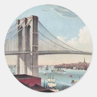 ブルックリン橋の絵画 ラウンドシール