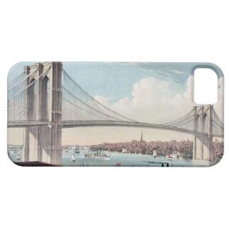 ブルックリン橋の絵画 iPhone SE/5/5s ケース