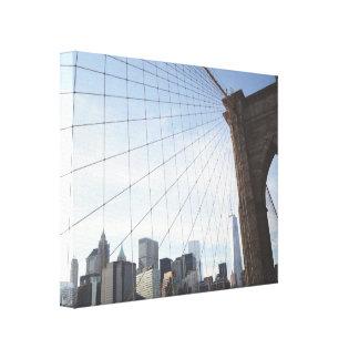 ブルックリン橋の自由 キャンバスプリント