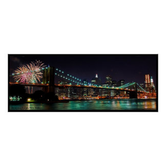 ブルックリン橋の花火 ポスター