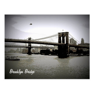 ブルックリン橋の芸術の郵便はがき ポストカード