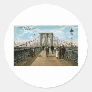 ブルックリン橋の遊歩道、ニューヨークシティ ラウンドシール